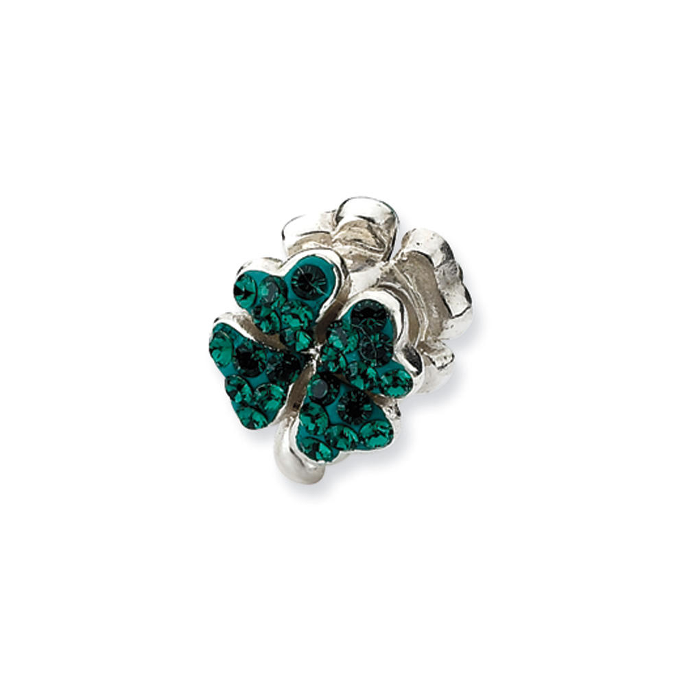 Swarovski   Sterling   Silver   Charm   Green   Bead