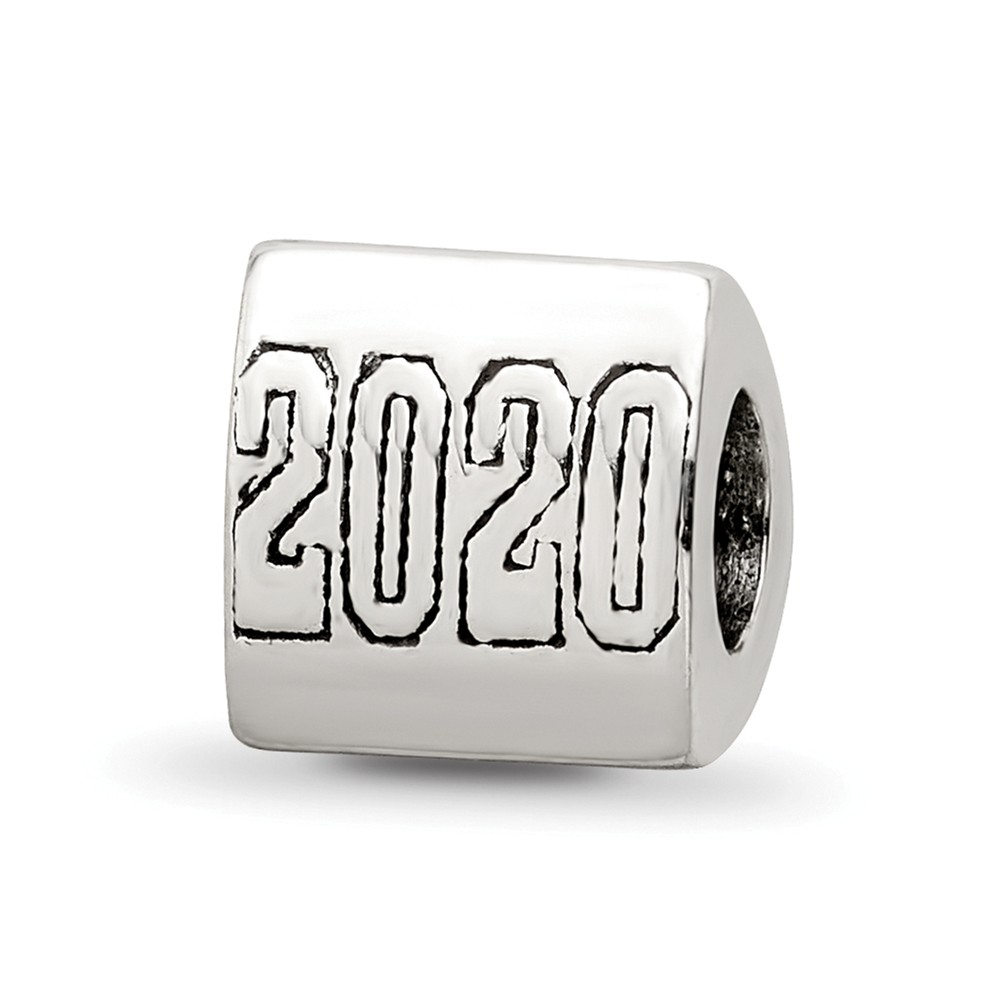 2020 Graduation 3 Sided Sterling Silver Bead Charm