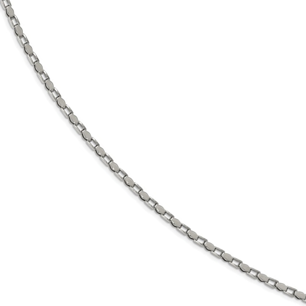 "925 Sterling Silver 3.5mm Fancy Heart Link Chain Necklace 7/"" 24/"""