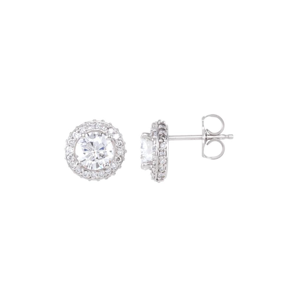 Diamond | Earring | White | Post | Gold
