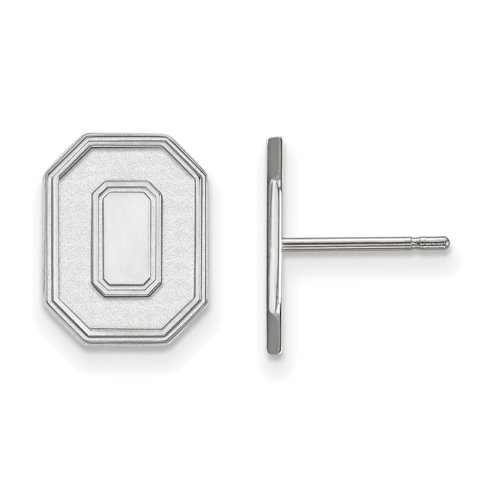 University | Earring | Small | State | White | Ohio | Post | NCAA | Gold | 10K