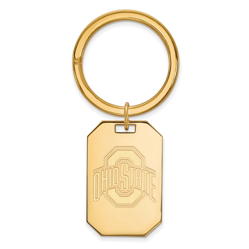 NCAA 14k Gold Plated Silver Ohio State Key Chain