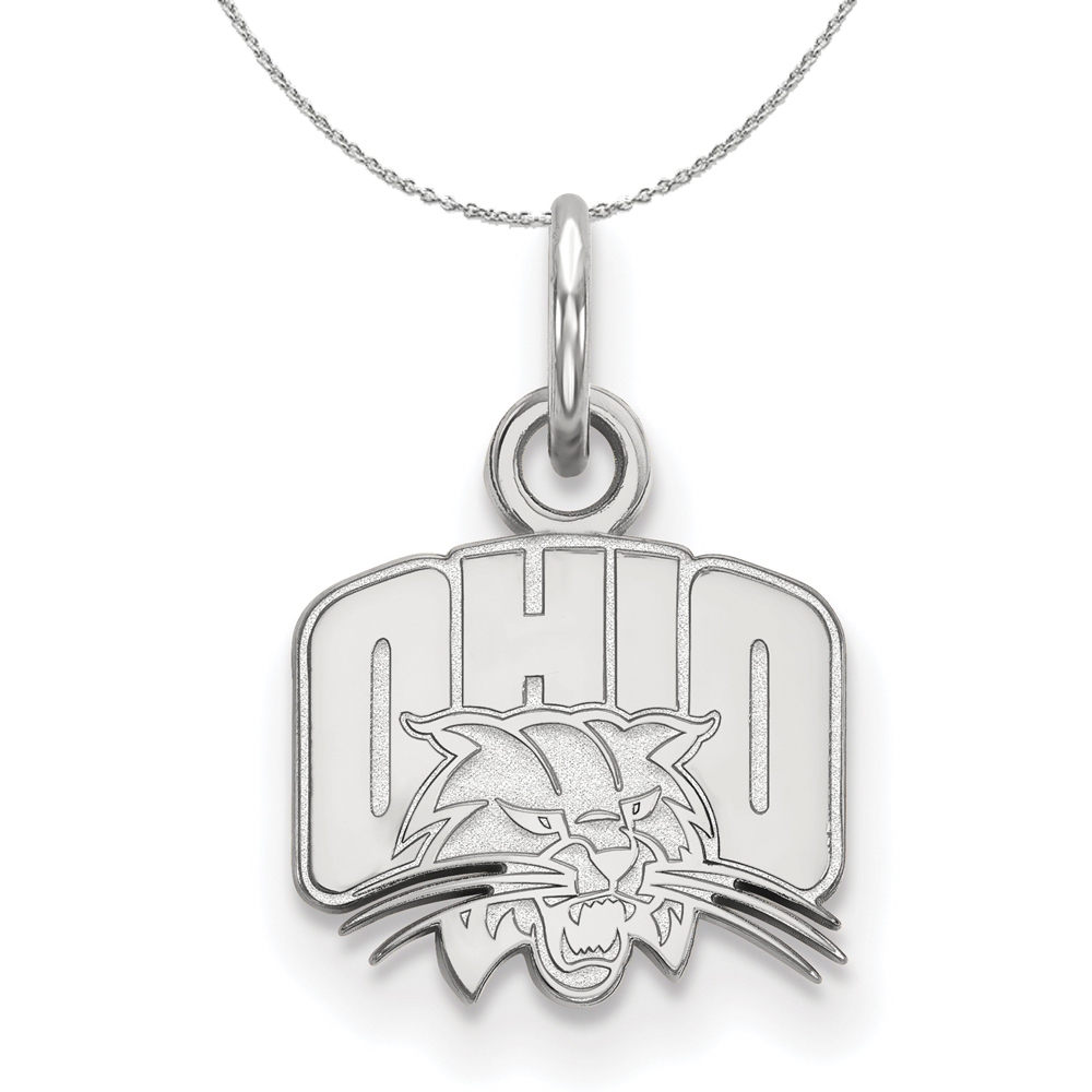 Sterling | Necklace | Bobcat | Silver | Ohio | NCAA