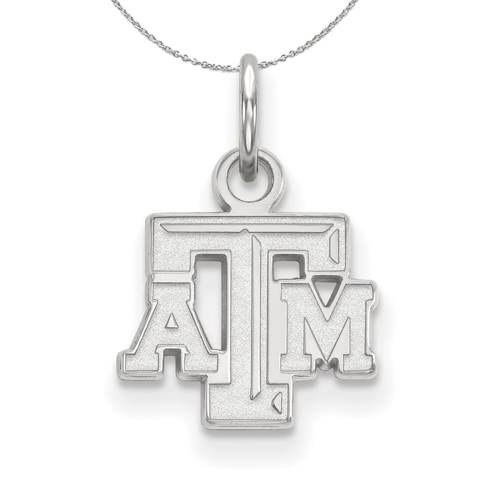 Sterling | Necklace | Silver | Texas | NCAA | A&M