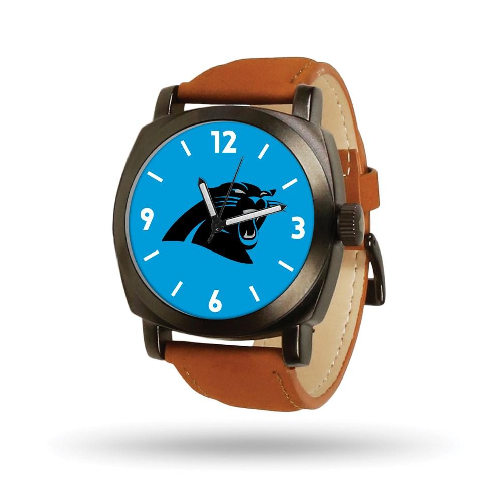 Carolina | Panther | Leather | Knight | Watch | Brown | NFL | Men