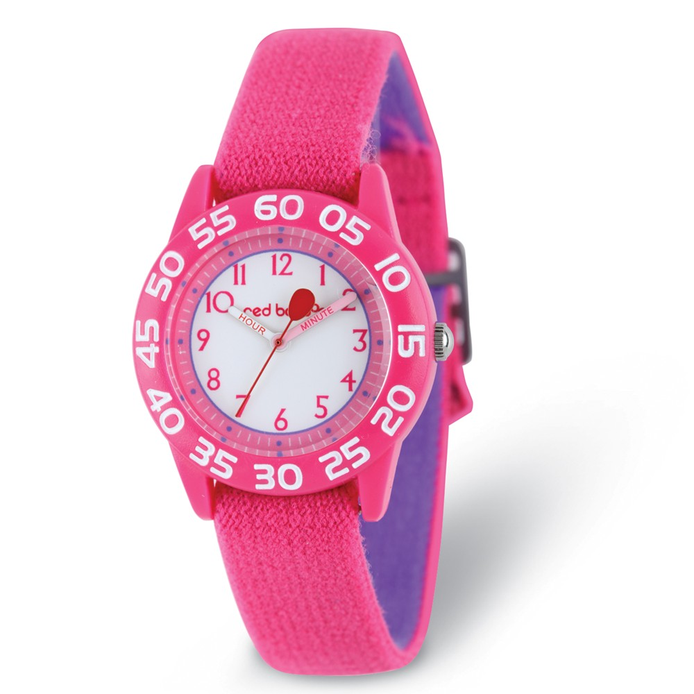Red Balloon Girls Pink Strap Time Teacher Watch