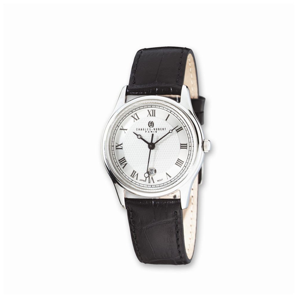 Charles | Leather | Watch | Round | Black | Lady | Band