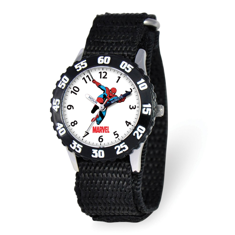 Spiderman | Velcro | Marvel | Teach | Watch | Black | Time | Band