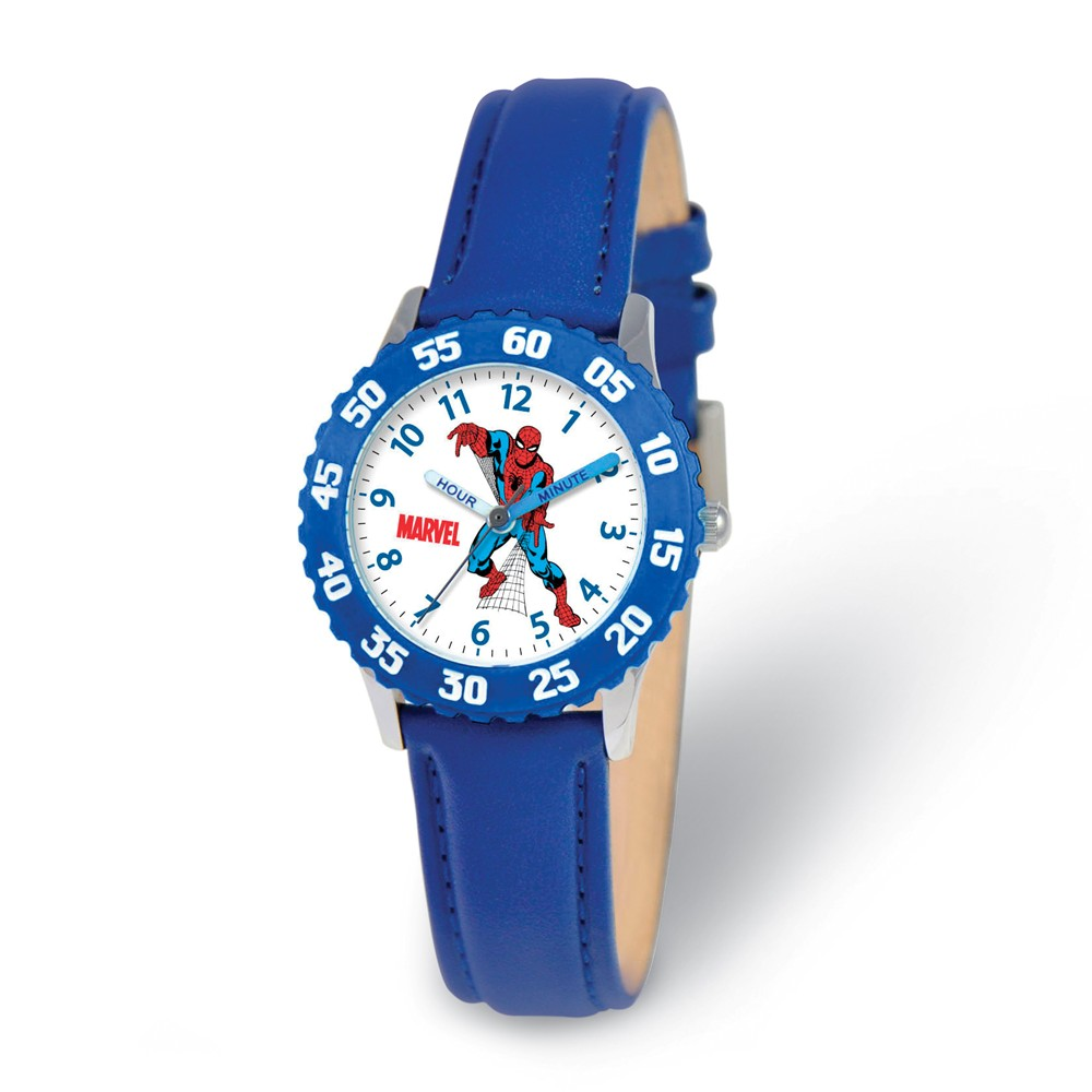 Spiderman | Leather | Marvel | Teach | Watch | Strap | Time | Blue